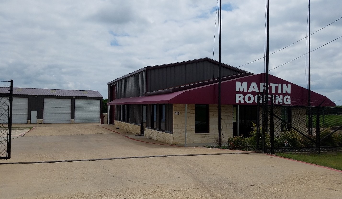 martin commercial roofing contractor office