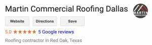martin commercial roofing google reviews