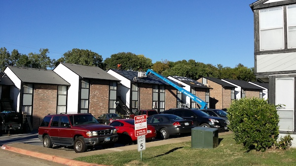 multi family building roofing